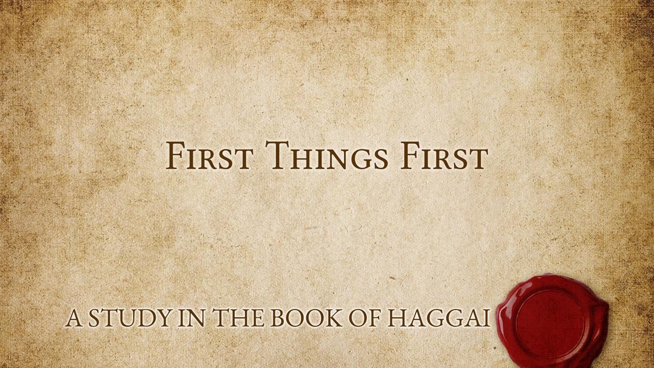 Haggai - Sermon 4